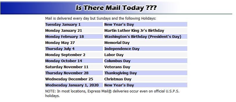 is there mail today
